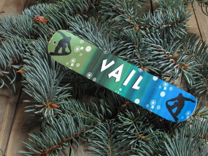 Snowboard Holiday Ornament personalized custom  Christmas image 0