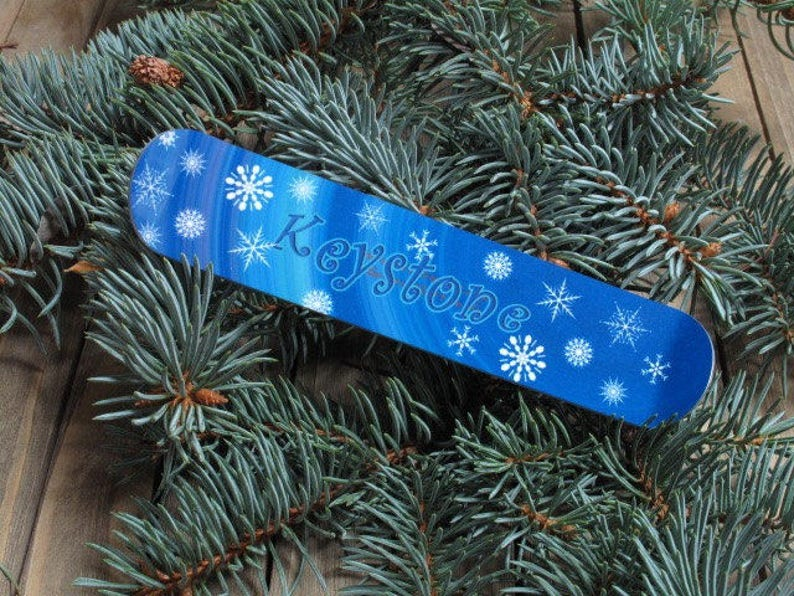 Snowboard Christmas Tree Ornament personalized for everyone image 0