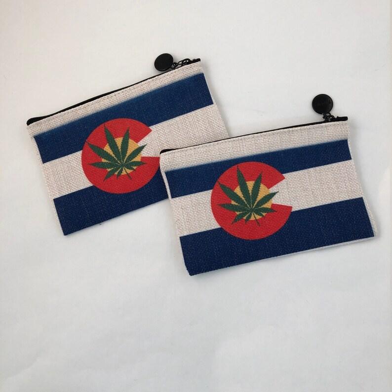 Colorado Flag  Marijuana Stash Bag zippered pouch Colorado image 0