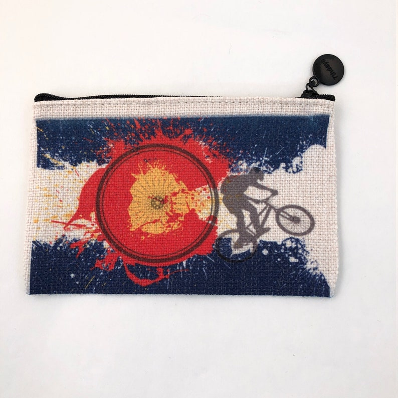 Colorado Flag Bike Bag  zippered pouch coin purse image 0
