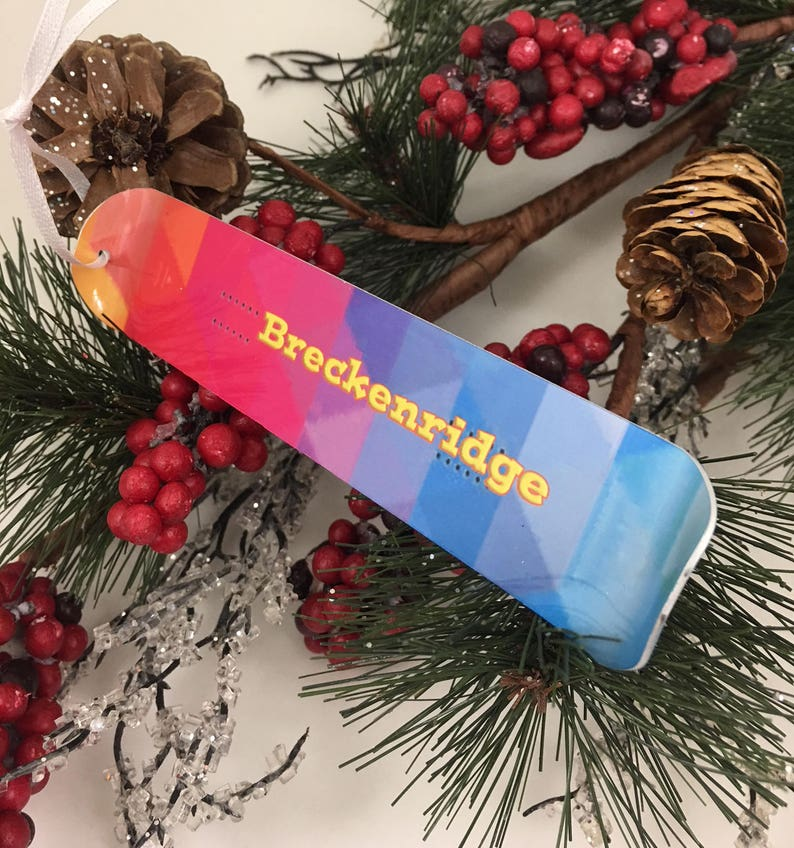 Snowboard Ornament Custom Personalized  Holiday Decoration image 0