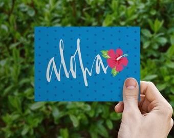 Aloha By Air greeting card