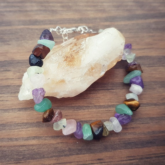 Gemstone Crystal Healing Anxiety Depression OCD Support Earrings Gift Bag