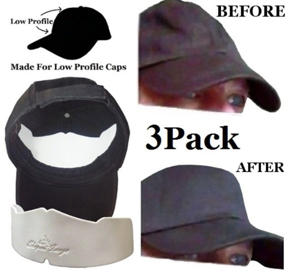 3Pk. Manta Ray Low Profile Baseball Caps Crown Inserts Fitted  1bd817e6599