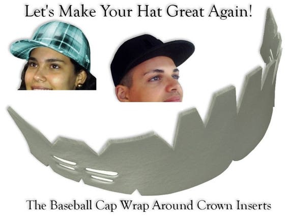 3c080d25975 Wrap-around Baseball Caps Crown Insert Hat Liner Fitted Hat