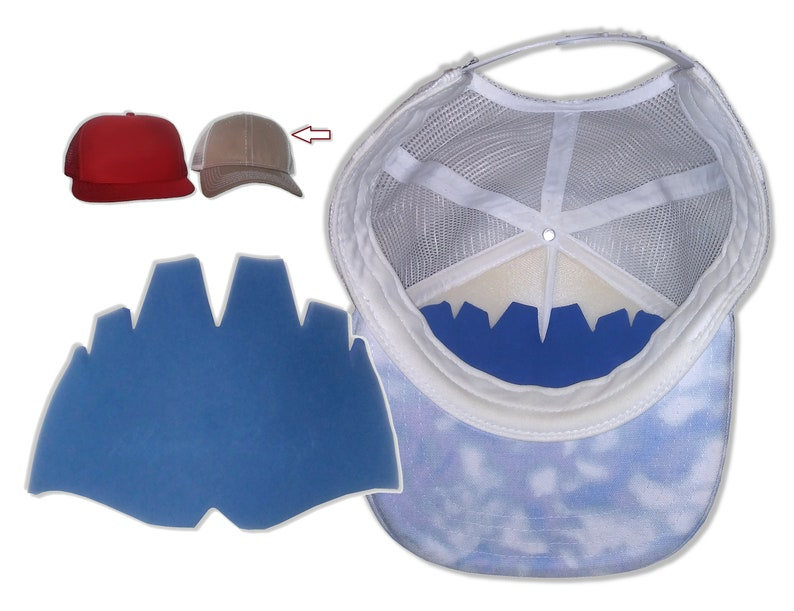 18883b9ec40d8d 3Pk. Designer Mesh Cap Inserts Crown Inserts Hat Shaper | Etsy