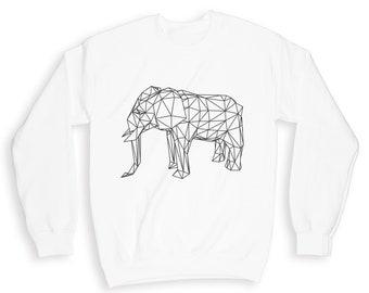 8302015f0dfa7 Geometric Elephant crew neck Sweatshirt