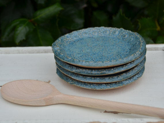 Ready to ship...Beautiful handmade appetizer condiment hors d'oeuvres plates (#P1)