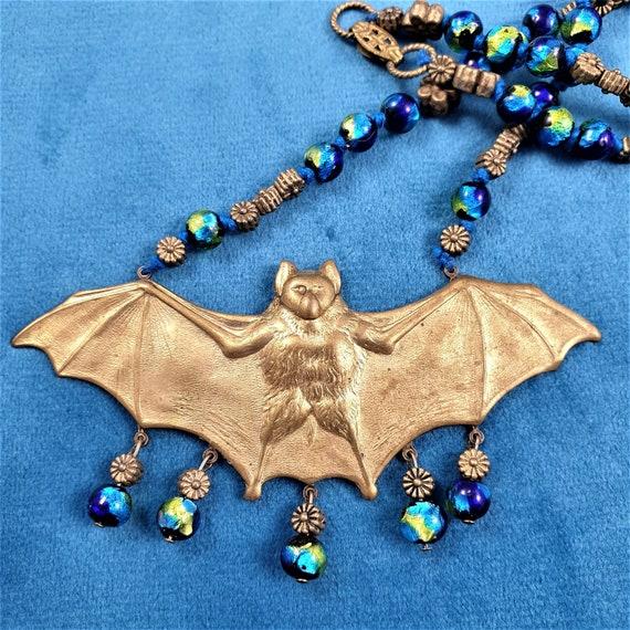 Art Nouveau Czech Necklace. Art Nouveau Bat Neckla