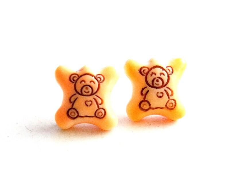 Hello Panda Biscuit Earrings