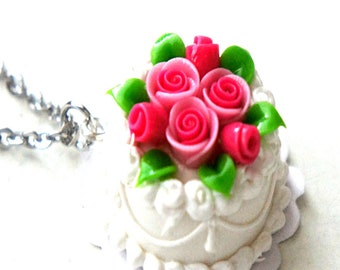 Wedding Cake Ring- Celebration cake ring, miniature food jewelry