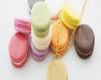 french macaron necklace- macaron necklace, parisian jewelry