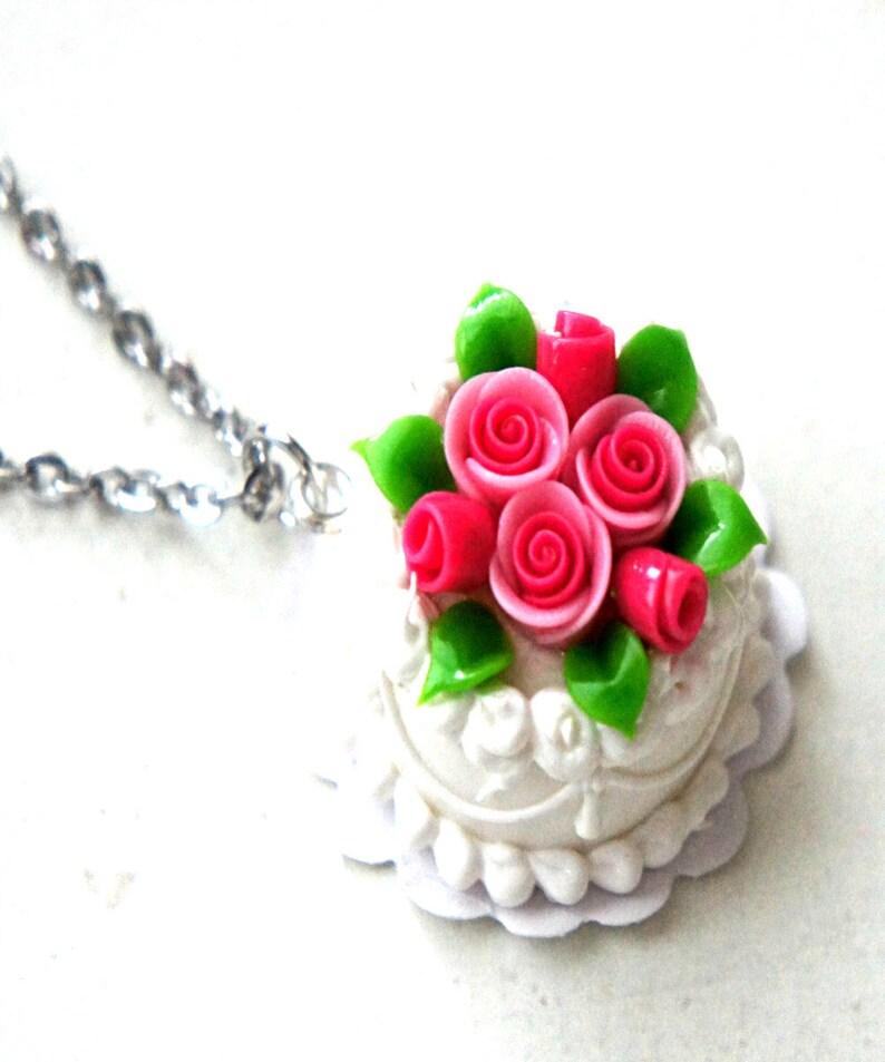 miniature food jewelry Wedding Cake Ring Celebration cake ring