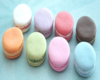 french macaron magnet- fridge magnet, office decor, office accessories