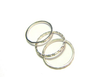 Trindade Ring 3 Fine Rings in Solid Silver