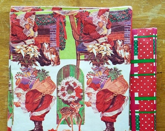 Vintage Christmas Holiday Wrapping Paper