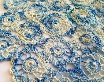 Vintage Baby Blue Crochet Doily