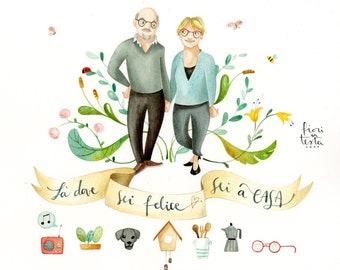THIS IS ME - custom portrait - family portrait - couple portrait - kids portrait - customized illustrations - watercolors