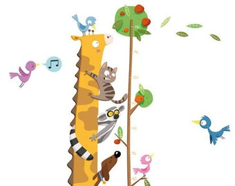 METRO GIRAFFe - wall-sticker  - wall decor - nursery decor - animals - decor for kids