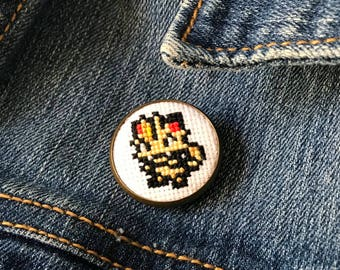 Meowth Pokemon Cross Stitch Pin