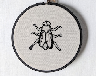 Embroidered Fly Hoop