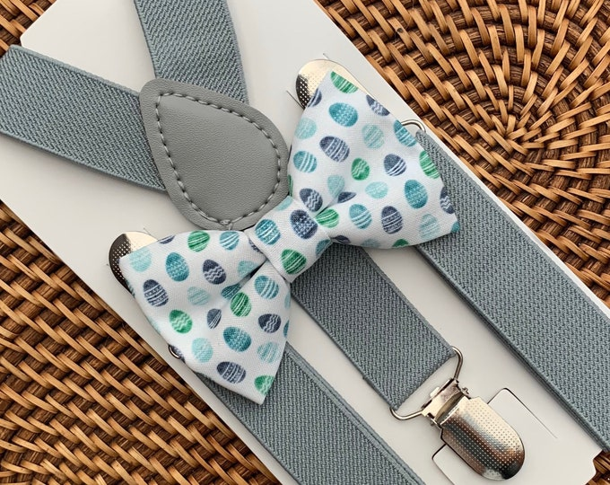 Easter Bow Tie, Easter Eggs, Easter Outfit for Boys, Bow Tie for Men, Boys, Girls, Baby, Toddlers, Easter Egg Bow Tie, Suspenders, Bow Ties