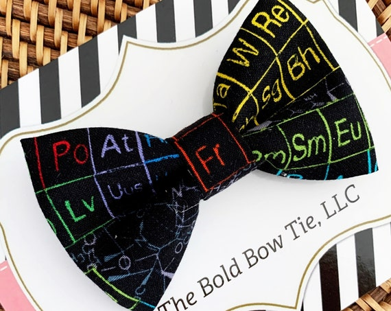 Periodic Table Bow Tie, Science Bow Tie, Chemistry Bow Tie, Genius Bow Tie, Scientist Bow Tie, Math Bow Tie, Geeky Gift, Makes a Great Gift!