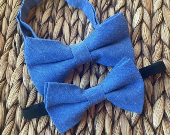 0599d713b08f Blue Father Son Bow Tie Set, Father Son Blue Bow Tie Set, Daddy Son Ties-  So Sweet!
