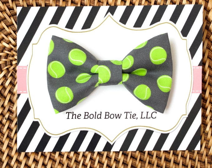 Tennis Ball Dog Bow Tie, Bow Tie for Dogs, Cats, Pets, Bowtie, Bow Ties, Dog Bow Tie, Dog Accessories, Dog Birthday Gift, Dog Lover Gift