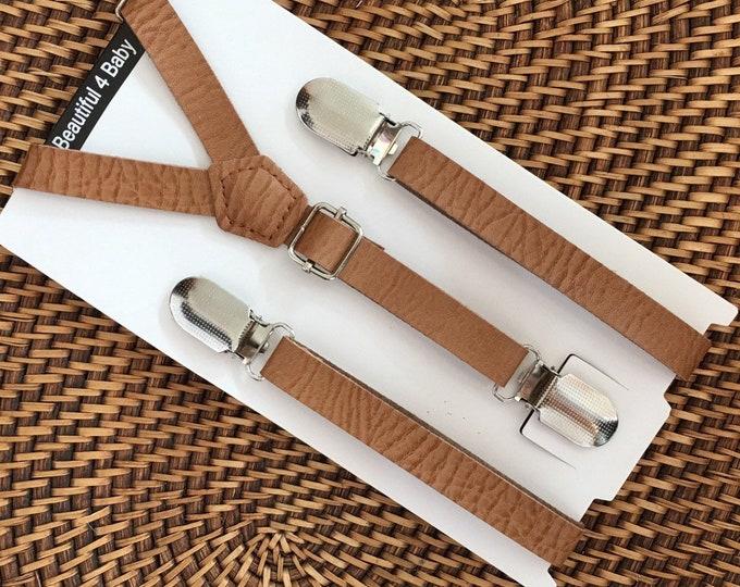 Leather Suspenders, Brown Suspenders, Leather Suspenders, Wedding Suspenders, Groomsmen Suspenders, Toddler Suspenders, Rustic Wedding