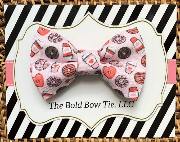 Valentine's Day Heart Dog Bow Tie, Bow Tie for Dogs, Cats, Pets, Bowtie, Bow Ties, Pink Dog Bow Tie, Dog Accessories, Dog Gift
