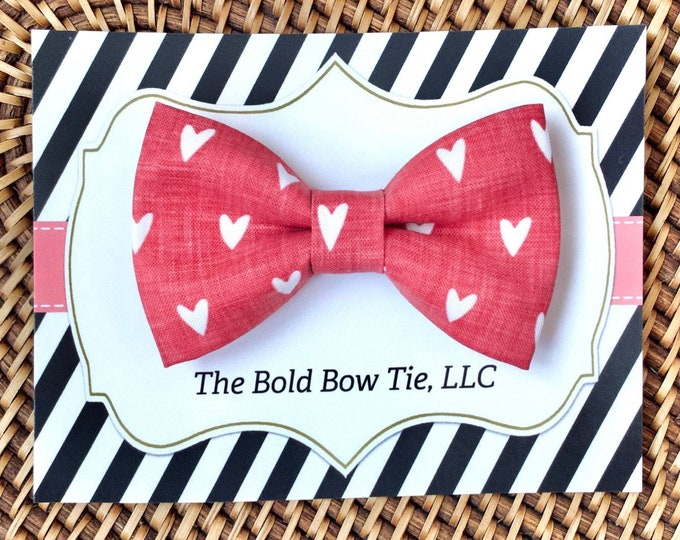 Valentine's Day Heart Dog Bow Tie, Bow Tie for Dogs, Cats, Pets, Bowtie, Bow Ties, Dog Bow Tie, Dog Accessories, Dog Gift, Dog Lover Gift