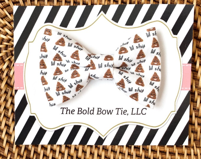 Funny Dog Bow Tie, Poop Emoji Bow Tie for Dogs, Cats, Pets, Bowtie, Bow Ties, Dog Bow Tie, Dog Accessories, Dog Birthday Gift, Dog Lover