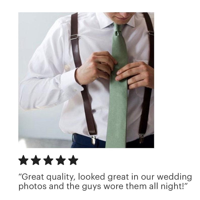 Boys Suspenders Rustic Suspenders Rustic Wedding Groomsmen Suspenders Leather Suspenders Mens Suspenders Brown Leather Suspenders