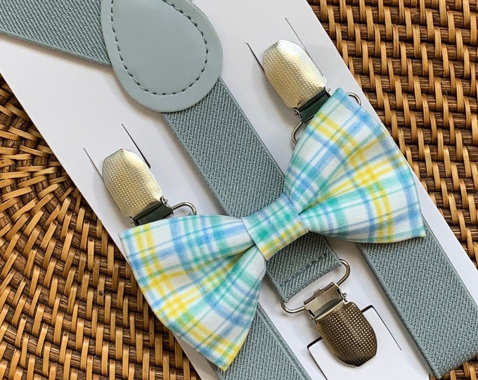 Easter Plaid Bow Tie, Pastel Bow Tie, Pastel Plaid Bow Tie, Easter Outfit, Bow Tie for Men, Boys, Girls, Baby, Toddlers, Easter Bow Ties