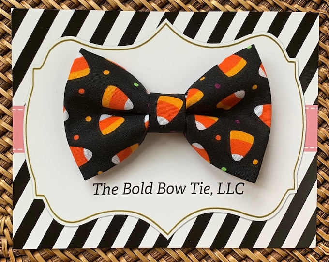 Halloween Bow Tie for Dogs, Cats, Pets, Green Dog Bow Tie, Candy Corn Fall Halloween Dog Bow Tie, Dog Bow Tie, Dog Accessories, Dog Gift
