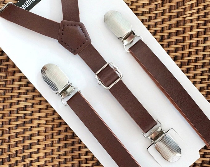 Leather Suspenders, Brown Suspenders, Leather Suspenders, Toddler Suspenders, Rustic Wedding, Rustic Suspenders, Groomsmen, Men Suspenders