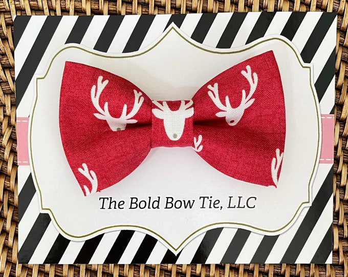 Red Christmas Dog Bow Tie, Bow Tie for Dogs, Cats, Pets, Bowtie, Bow Ties, Dog Gift, Dog Collar Bow Tie, Christmas Bow Tie, Dog Lover Gift