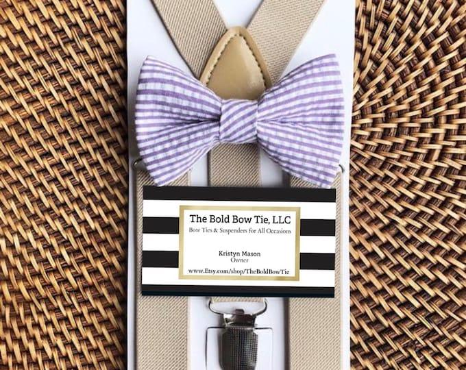Lavender Bow Tie, Seersucker Bow Tie, Lavender Seersucker Bow Tie, Boys Bow Tie, Purple Bow Tie, Baby Bow Tie, Toddler Bow Tie, Mens Bow Tie