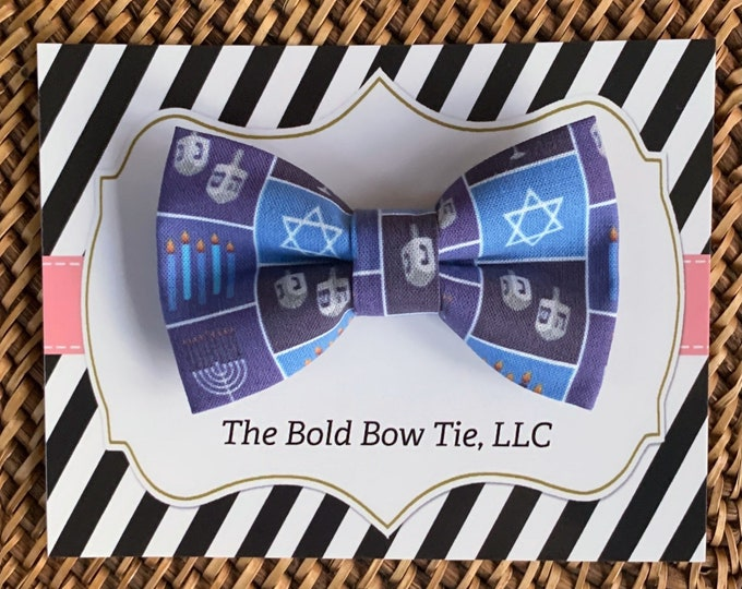 Hanukkah Dog Bow Tie, Bow Tie for Dogs, Cats, Pets, Bowtie, Bow Ties, Christmas Bow Tie, Cat Bow Tie, Accessories, Apparel