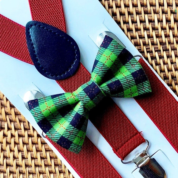 Christmas Plaid Bow Tie, Green Bow Tie, Bow Ties, Christmas Bow Tie, Bow Ties for Men, Bow Ties for Boys, Bowties, Bowtie, Christmas Gift