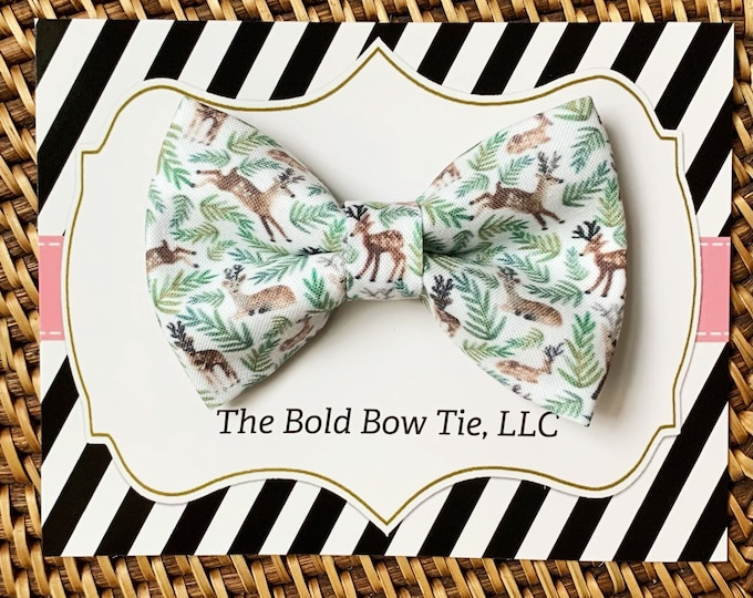 Reindeer Dog Bow Tie, Bow Tie for Dogs, Cats, Pets, Bowtie, Bow Ties, Christmas Dog Bow Tie, Christmas Bow Tie, Cat Bow Tie, Accessories