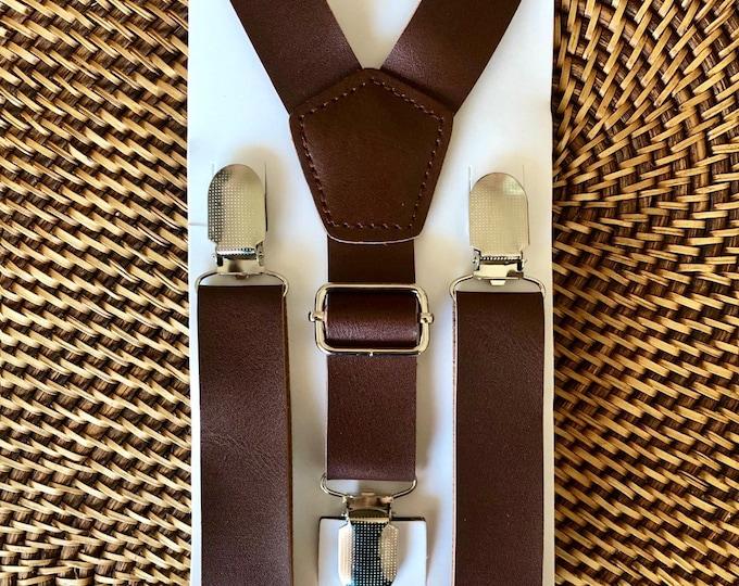 Leather Suspenders, Vintage Suspenders, Mens Suspenders, Groomsmen Suspenders,  Boys Suspenders, Rustic Suspenders, Rustic Wedding