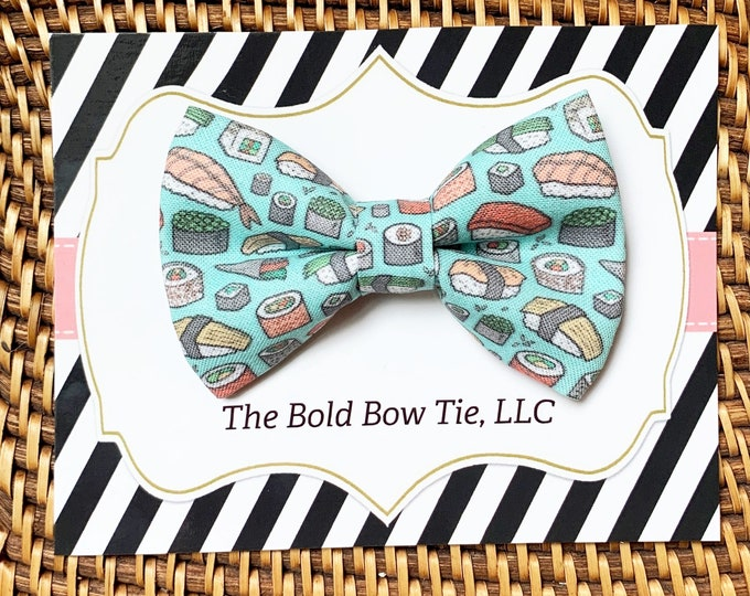Sushi Dog Bow Tie, Sushi Bow Tie for Dogs, Cats, Dog lover Gift, Gifts for Dogs, Dog Clothes, Dog Mom Gift, Cute Dog Bowtie, Dog Accessories