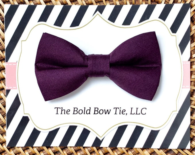 Purple Wedding Dog Bow Tie, Plum Purple Bow Tie for Dogs, Cats, Pets, Bowtie, Bow Ties, Dog Bow Tie, Dog Accessories, Dog Ring Bearer BowTie