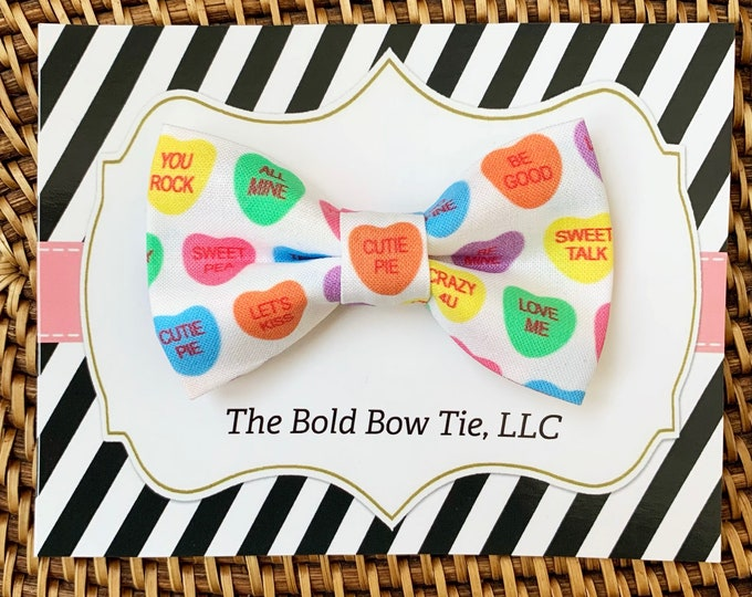 Valentine's Day Heart Dog Bow Tie, Bow Tie for Dogs, Cats, Pets, Bowtie, Bow Ties, Candy Dog Bow Tie, Dog Accessories, Dog Gift