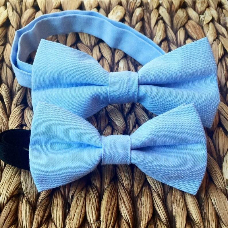 d912ac54c7c4 Blue Father Son Bow Tie Set Father Son Blue Bow Tie Set | Etsy