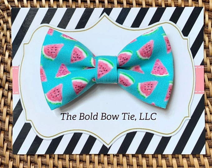 Summer Watermelon Dog Bow Tie, Blue Bow Tie for Dogs, Cats, Bow Ties, Dog Bow Tie, Dog Accessories, Dog Birthday Gift, Dog Lover Gift