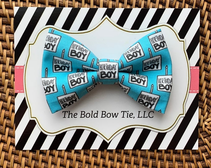 Birthday Dog Bow Tie, Birthday Bow Tie for Dogs, Cats, Pets, Bowtie, Bow Ties, Dog Bow Tie for Birthday, Dog Accessories, Dog Gift, Cat Gift