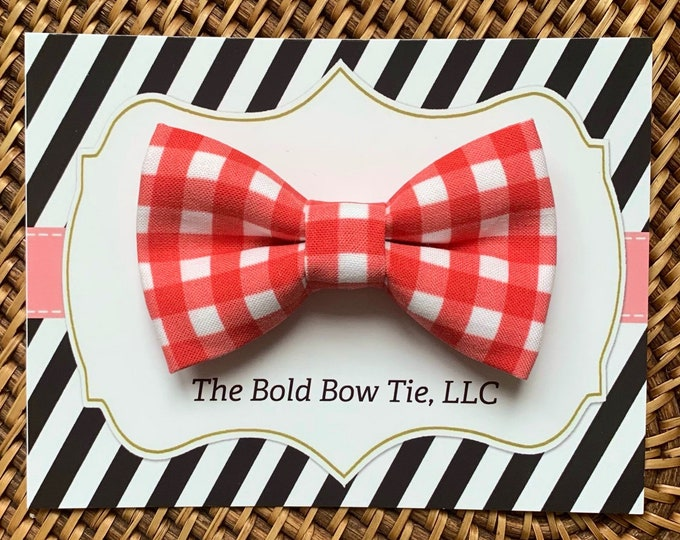 Red Gingham Dog Bow Tie, Bow Tie for Dogs, Cats, Pets, Bowtie, Bow Ties, Christmas Dog Bow Tie, Christmas Bow Tie, Cat Bow Tie, Accessories